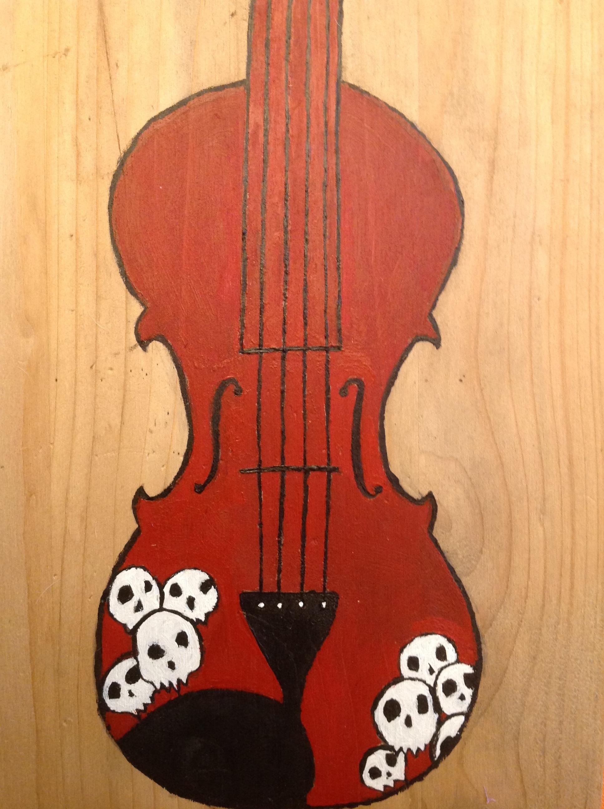 Bérénice-Peinture sur bois