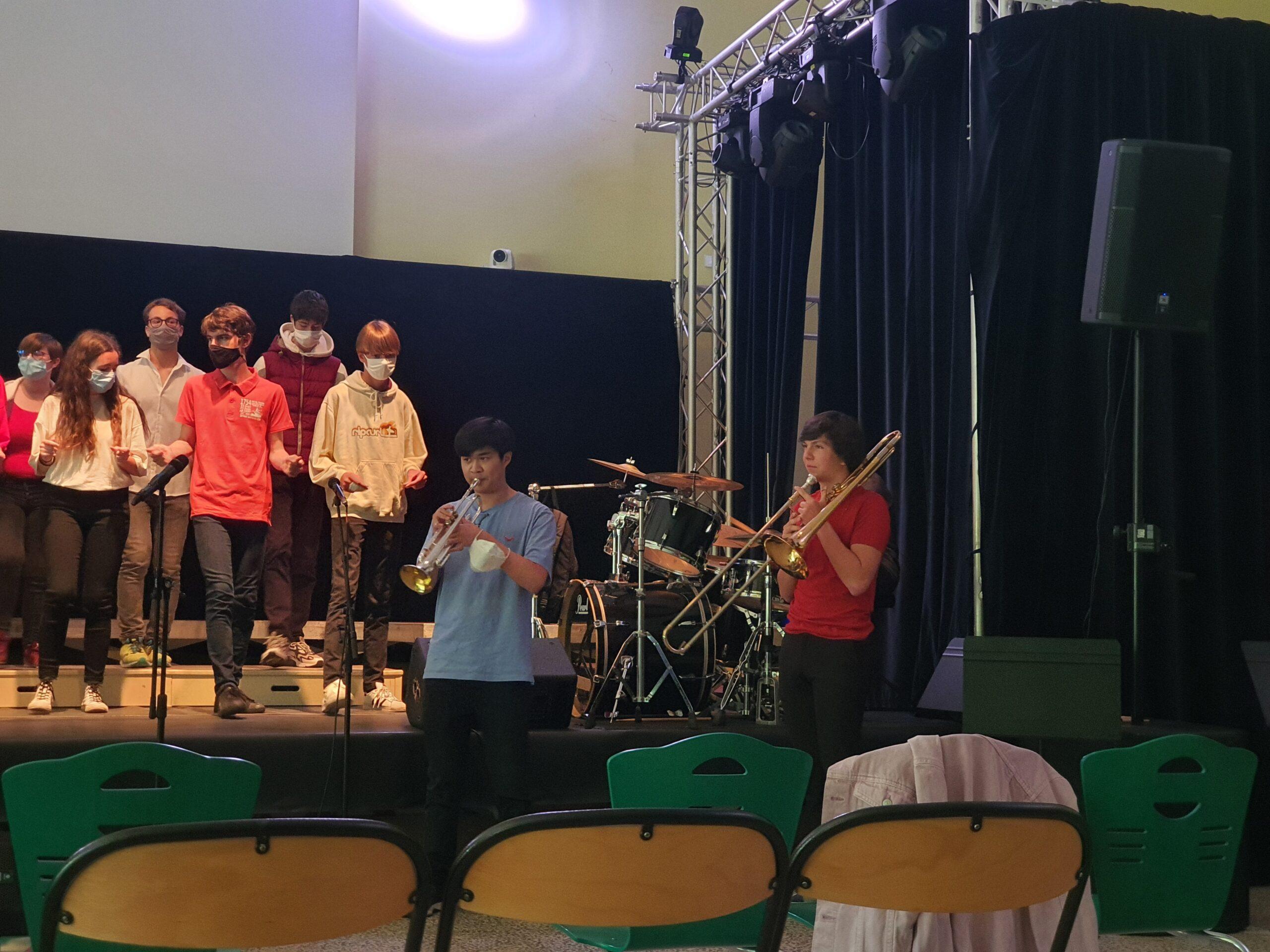 02z Daniel à la trompette & Hugo au Trombone
